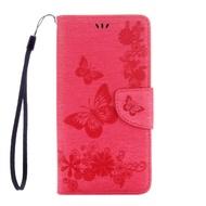 Samsung Galaxy Note10 Plus Note9 Note8 皮革保護套蝴蝶造型花紋手機套書本皮套