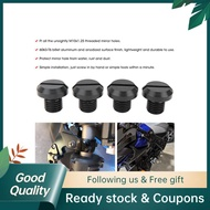 Haichao 2 Pair Rearview Side Mirror Hole Plugs Screw M10x1.25 Fits For Hypermotard