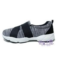 JIMMY POLO 男款鬆緊帶懶人運動休閒鞋 [18085] 灰 MIT台灣製造【巷子屋】