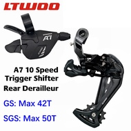 LTWOO A7 1x 10 Speed Groupset 10s Rear Derailleur Right Shifter GS SGS medium long cage leg compatible for shimano deore