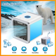 FAN พัดลมไอเย็น   Arctic Air Cooler mini fan เครื่องทำความเย็นมินิ แอร์พกพา   ตั้งโต๊ะ พัดลมแอร์ พัดลมไอ้น้ำ
