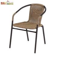 【艷陽庄】藤椅(黑金點雙色)/餐椅/餐桌椅/休閒椅/PE藤椅/塑膠藤椅/戶外椅/家具工廠