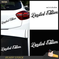 MWWB Limited Edition Letters Car-Styling Vehicle Reflective Decals Sticker Decor