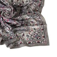 Christian Dior 華麗幾何雕花(大)領巾-灰色