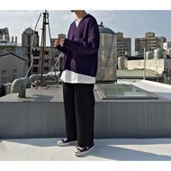 【二手】YU SELECT-優選 monkey time M號 深紫色寬短版口袋V領毛衣