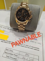 Michael Kors Gold-Black Chronograph Bradshaw Authentic and Pawnable for Mens MK watch Gold-Black Chronograph Pawnable watch for Womens Original Sale Couple watch