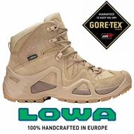 【LOWA 德國】ZEPHYR GTX MID TF 軍用戰鬥靴鞋 軍靴 防水登山鞋 女款 淺沙漠 (LW320537-0410)
