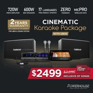 [SG] Powerhouse Touchscreen Home Karaoke Box + spkPRO Cinematic Karaoke System Set