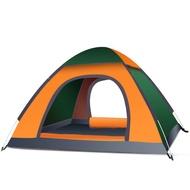 戶外帳篷 3-4人秒開帳篷  野營露營2單人雙人  野外加厚防雨 輕便帳篷