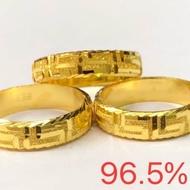 แหวนทองคำแท้ 96.5% #แหวนโดนัทตัดลายจีน สวยๆ ตันๆ #ยอดนิยมตลอดกาลน้ำหนักทองครึ่งสลึง