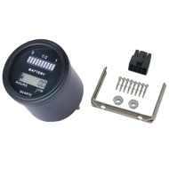 Rl-Bi011 Battery Gauge Agm Gel Volt Meter Battery Indicator With Hour Meter For Motorcycle Atv Tractor Cleaning Machine