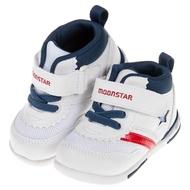 【布布童鞋】Moonstar日本白藍色閃亮之星兒童機能運動鞋(I8S952M)