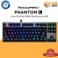 Tecware Phantom L Low Profile RGB Mechanical Gaming Keyboard TKL Tenkeyless Outemu Switches Blue Brown Red