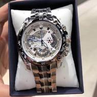 Casio Edifice รุ่น EF-550D-7AV สินค้าขายดี นาฬิกาข้อมือผู้ชาย สายสแตนเลส (ประกันCMG)