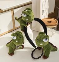 立體恐龍髮飾【NT032】3款髮圈 髮箍 髮夾 頭飾胸針 鑰匙圈 恐龍鑰匙扣 吊飾 絨毛恐龍 恐龍