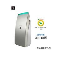 福利品★SHARP 夏普大坪數科技美型空氣清淨機 FU-H80T-N
