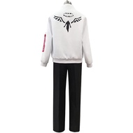 Anime Tokyo Revengers Hanemiya Kazutora Cosplay Costumes White Coat Valhalla Uniform Baseball Mikey Draken Halloween Jacket Pant