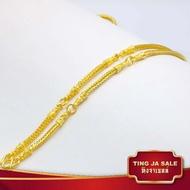 สร้อยคอหุ้มเศษทอง ลายสี่เสา 5 ห่วงพระ ขนาด 2 บาท ความยาว 26 นิ้ว ชุบทองคำ งานฝีมือจากช่างทองเยาราช แถมฟรีตลับใส่ทอง