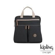 【KIPLING】城市探索霧灰前雙拉鍊手提後背兩用包-KOMORI S-EDGELAND系列