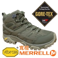 【MERRELL 美國】男GORE-TEX中筒 多功能健行鞋-寬楦『軍綠』99773W