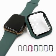 เคสแข็งสีด้านสำหรับApple Watch 5/4/3/360,เคสหน้าจอฟิล์มกระจกนิรภัยเต็มหน้าจอกันกระแทก2/1องศาสำหรับI Watch 4/5