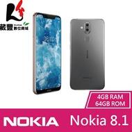 【贈玻璃保貼+空壓殼】Nokia 8.1 (TA-1119) 4G/64G 6.18吋 智慧型手機