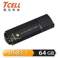 TCELL 冠元-USB3.1 64GB 4K EVO 璀璨黑金隨身碟