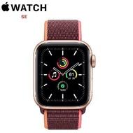 【限時95折】Apple Watch SE GPS+LTE 版 40mm 金色鋁金屬錶殼配梅李色運動型錶環 (MYEJ2TA/A)