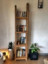 老柚木 書架 雜誌架 層櫃 (L45 W30 H180 cm)