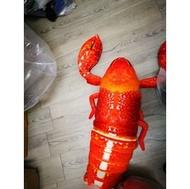 ribbite美女美女第一包3D仿真巨無霸龍蝦抱枕