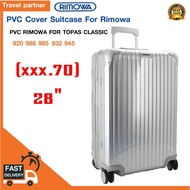 [ส่งฟรี!!]พลาสติกใสคลุมกระเป๋าแบบซิป เฉพาะแบรนด์ RIMOWA Topas Classic  / Travel Partner PVC for RIMOWA Topas Classic Luggage Sets Cover Protector Clear PVC Suitcase Case Protective with Grey Zipper