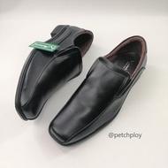 (T28-152-แบบสวม) V.minnte รองเท้าหนังคัชชูผู้ชาย แบบสวม สีดำ Size 47-50 รุ่น T28-152 มีไซส์ใหญ่พิเศษ เท้ายาวถึง32.5ซม.