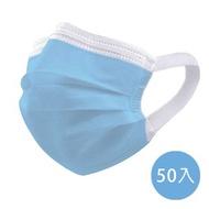 【神煥】藍色 成人 醫療 口罩50入/盒 (未滅菌)專利可調式無痛耳帶