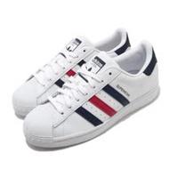 adidas 休閒鞋 Superstar 復古 低筒 男女鞋 愛迪達 三葉草 貝殼頭 情侶穿搭 皮革 白紅藍 FX2328 FX2328