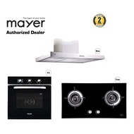 Mayer 90Cm Chimney Hood Bundle With Hob and 65L Oven