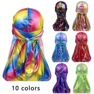 SHENGZU Fashion Long Tail Hip Hop Silky Headwear Bandana Muslim Turban Cancer Head Scarf Hair Loss Hat Durag Cap