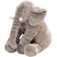 大象抱枕40cm 大象造型抱枕毯60cm 大象收納毯 大象娃娃 安撫大象 法蘭絨毯 空調毯