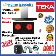 Teka DHW90T0 (1800m3/h) Hood + VTCM722 Ceramic Hob TEKA COMBO SET Cooker Hood 90cm Chimney DHW 90 T0 + Vitro Ceramic Hob