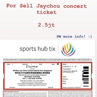 Jay Chou tickets concert 2020 all new jay chou world tour Singapore