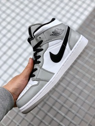 """NIKE Air Jordan 1 Mid """"Light Smoke Grey"""" Fitness shoes Spring and summer 2020 Mens and womens shoes 2020 hot sales Authentic"""