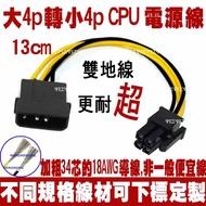 大4PIN 轉 小4PIN CPU電源轉接線CPU 主機板 電源線 EPS 主機板電源轉接線 IDE 大4P 轉 小4P