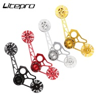 litepro Bike Chain Tensioner Bicycle Pulley Wheel Rear Derailleur Guide Wheels For Brompton 3 Sixty United Trifold Folding Bicycle