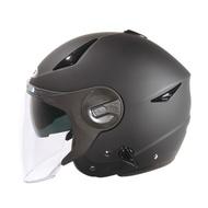 ZEUS ZS-612A 消光黑 / 半罩安全帽/瑞獅彩繪/輕量/可拆透氣內襯/內制墨鏡/插銷扣環 【歐樂免運】