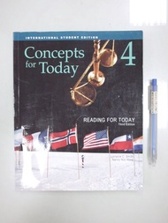 B8-4cd☆『ISE Reading for Today 4 3/e Concepts for Today』