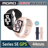 運動錶帶超值組【Apple 蘋果】Watch Series SE GPS版44mm(鋁金屬錶殼搭配運動型錶帶)