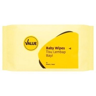 Tesco Lotus's Value Baby Wipes 70 Sheets