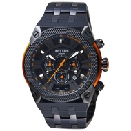 【RHYTHM 麗聲】鐵甲武士計時手錶-黑/46mm(I1501S03)