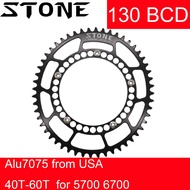 Stone Chainring 130 BCD Oval for Sram Red Shimano 3sixty Brompton 5700 6700 Road Bike 42T 52 54 56 58 60T Chain Wheel 1x
