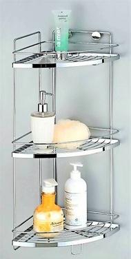 衛浴不銹鋼304正品 角落架 三層轉角架 不鏽鋼牆角置物架