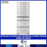 HITACHI R-S42GS 425L INVERTER 5 DOOR FRIDGE MADE IN JAPAN